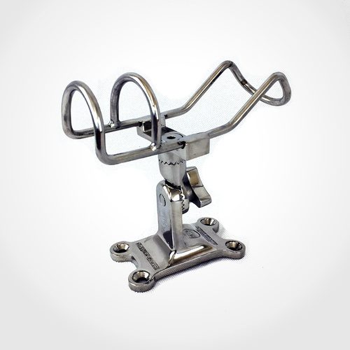 316 Single Adjustable DECK MOUNT Rod Holder